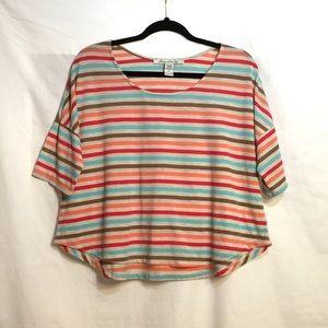 American Rag Size L striped Dolman tee shirt